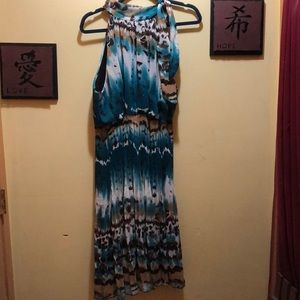 Ashley Stewart Tie Neck Halter Dress